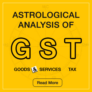 Astrological Analysis of GST